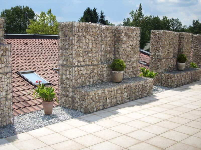 Gabionen mauerbau for Terrassenanlagen bilder